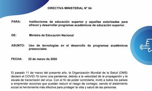 Directiva Ministerial No. 04